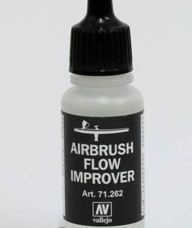 Flow improver medium für airbrush